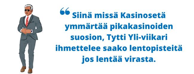 Kasinot ilman tiliä Suomessa