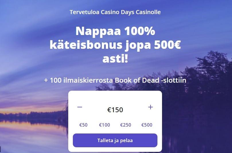 Casinodays casino etusivu