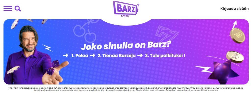 Barz Casino etusivu